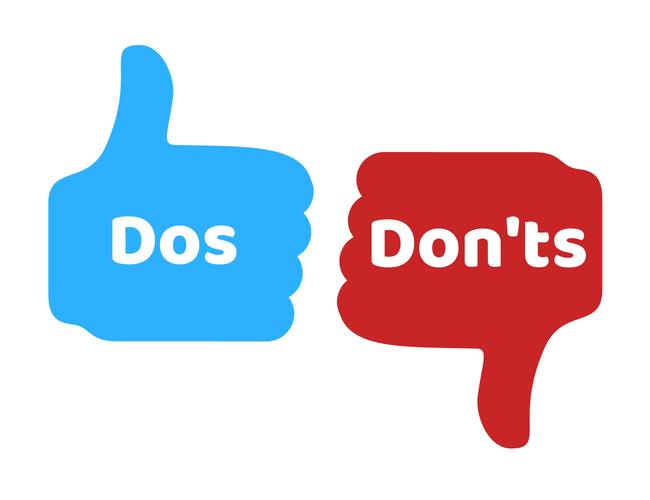 Image result for dos and donts